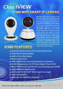 CloudVIEW Q6 Wifi Smart IP Cameras Pan & Tilt